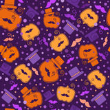 Bright halloween pumpkin gentleman backround  Royalty Free Stock Image