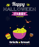 Bright Halloween trick or treat card Royalty Free Stock Image