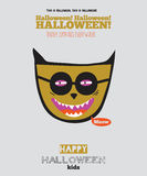 Bright Halloween trick or treat card Royalty Free Stock Photos