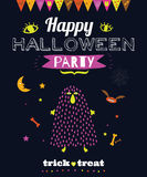 Bright Halloween trick or treat card Stock Photos