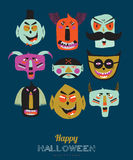 Bright Halloween trick or treat card Royalty Free Stock Photo