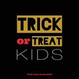 Bright Halloween trick or treat card Stock Photo