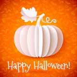 Bright Halloween white paper vector pumpkin Stock Photo