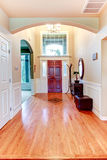 Bright hallway with arch and high ceiling Royalty Free Stock Image