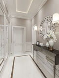 Bright Hallway Art Deco style Royalty Free Stock Image