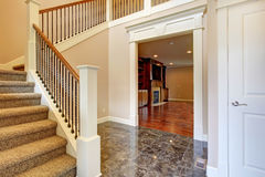 Bright hallway with staircase Royalty Free Stock Photo