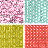 Bright Hand Drawn Vector Patterns Stock Photo