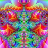 Bright and happy. Abstract fractal background created with the fractal explorer Royalty Free Stock Images