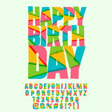 Bright Happy birthday greeting card for kids Royalty Free Stock Photos