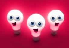 Bright Happy Creativity Bulbs Royalty Free Stock Photo