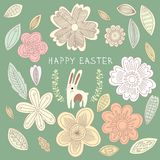 Bright happy easter card in . Royalty Free Stock Image