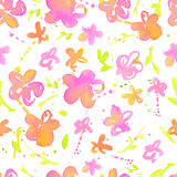 Abstract watercolor seamless pattern with splatter spots  Stock Photo