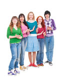 Bright and happy teenagers is clapping royalty free stock photo