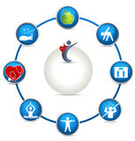Bright Health care circle Stock Photography