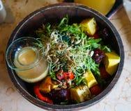 Bright And Healthy Salad Bowl stock photos