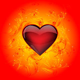 Bright heart Stock Image