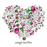Bright heart made of flowers in vector Royalty Free Stock Photo
