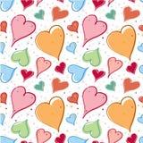 Bright hearts pattern Royalty Free Stock Photo