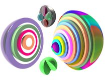 Bright hemisphere 3d Royalty Free Stock Images