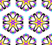 Bright Hexagon Flower Pattern Royalty Free Stock Photo