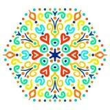 Bright Hexagon Ornament Stock Image