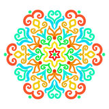 Bright Hexagon Ornament Stock Images