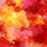 Bright hexagon pattern for Your design. Royalty Free Stock Photography