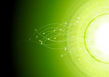 Bright hi-tech abstract green vector background Royalty Free Stock Image