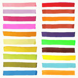 Bright Highlight Brightly Scribble Banner, Stylish Borderline Marks, Marker Strokes Vector Set Stock Photos