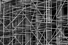 Bright highlighted scaffolding grid Stock Photography