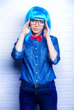 Bright hipster Stock Images
