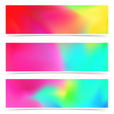 Bright holi abstract colorful fantasy cards collection. Vector illustration royalty free illustration
