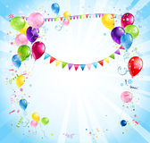 Bright holiday background with balloons Royalty Free Stock Images