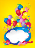 Bright Holiday Composition Of Balloons Stock Images