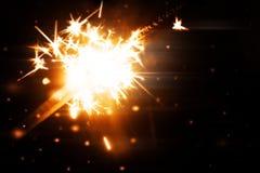 Bright holiday sparkler royalty free illustration