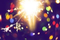 Bright holiday sparkler vector illustration
