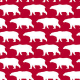 Bright holiday walking bears pattern Royalty Free Stock Photography