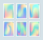 Bright holographic backgrounds set for a different design. Stock Images