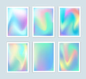 Bright holographic backgrounds set for a different design. Stock Photo