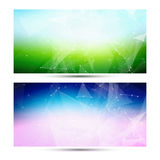 Bright horizontal abstract geometric, low poly Stock Photos