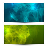 Bright horizontal abstract geometric, low poly Stock Images