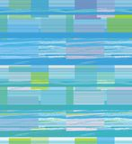 Bright horizontal lines forming rectangles. Blue and green a seamless pattern on a light blue background Stock Photos