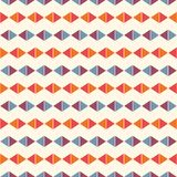 Bright Horizontal Rhombic Lines Abstract Background. Rhombuses And Lozenge Motif. Simple Geometric Wallpaper. Vector Art Stock Image
