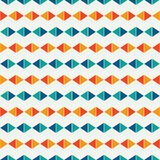 Bright horizontal rhombic lines abstract background. Rhombuses and lozenge motif. Simple geometric wallpaper. Vector art Stock Photo