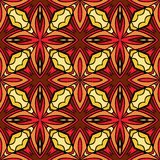 Bright Hot Geometric Seamless Pattern. Seamless colorful ethnic pattern. Abstract geometric elements on tribal fantasy ornament. Bright hot colors. Endless Royalty Free Stock Photo
