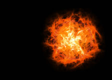 Bright hot planet on a dark backgrounds Stock Images