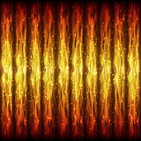 Bright Hot Seamless Pattern of Fiery Wave Lines for App, Program. Website. Fire Effect. Continuous Burning Background with Effect of Flying Twinkle Particles Stock Images