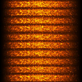 Bright Hot Seamless Pattern of Horizontal Fiery Wave Lines for A. Pp, Program, Website. Fire Effect. Continuous Burning Background with Effect of Flying Twinkle Royalty Free Stock Images