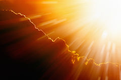Bright hot sun. Climate change, global warming, high temperature Stock Images