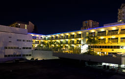 Bright Hotel Complex At Night Stock Photos